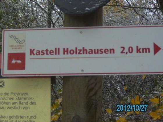 Die länge vom Parkplatz nis zum Römer-Kastell